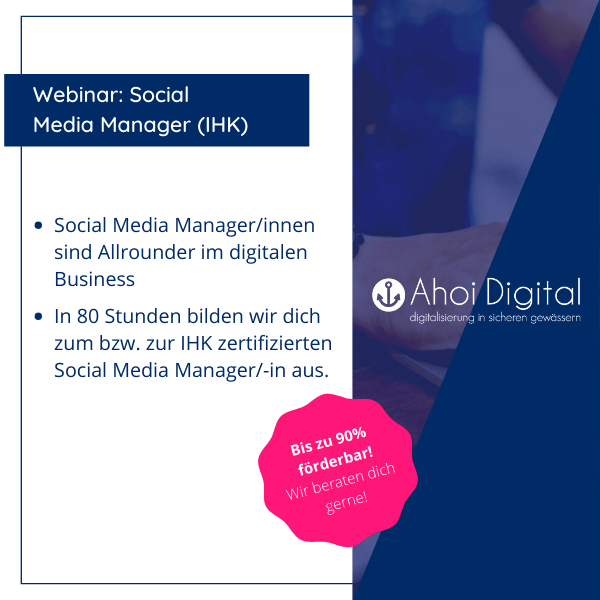 Werde Social Media Manager (IHK)! 1 - Social Media Agentur aus Oldenburg Social Media Agentur aus Oldenburg