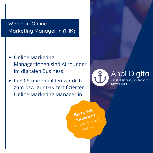 Werde Online Marketing Manager (IHK)! 2 - Social Media Agentur aus Oldenburg Social Media Agentur aus Oldenburg