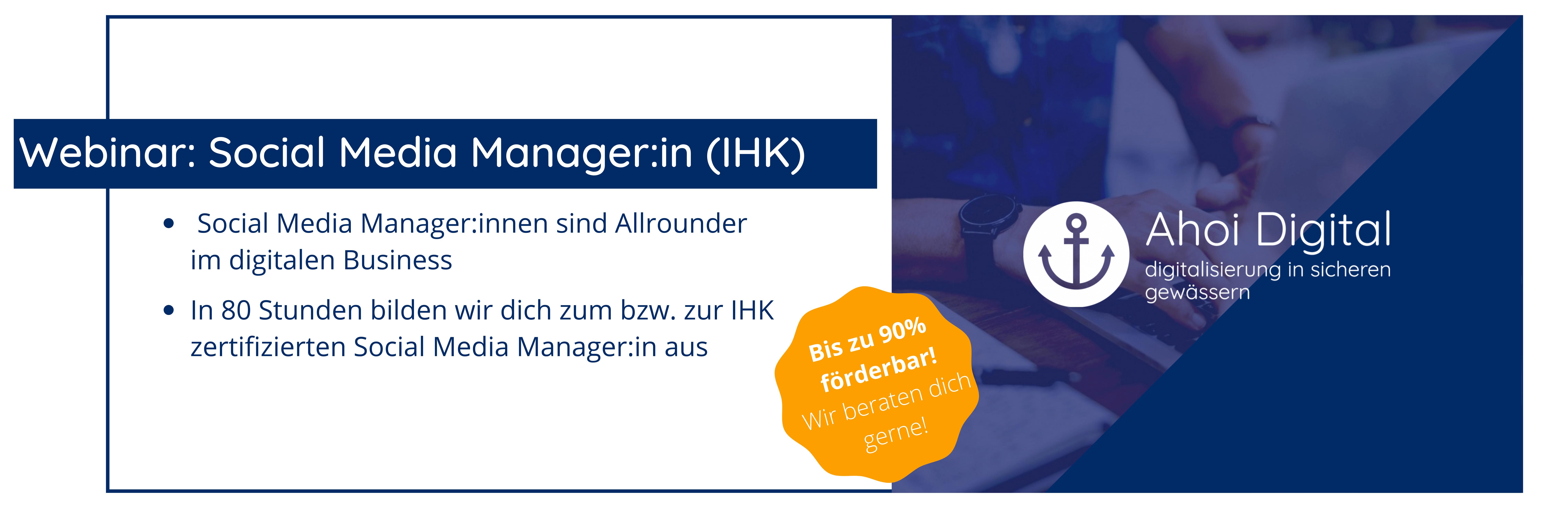 Werde Social Media Manager (IHK)! 2 - Social Media Agentur aus Oldenburg Social Media Agentur aus Oldenburg