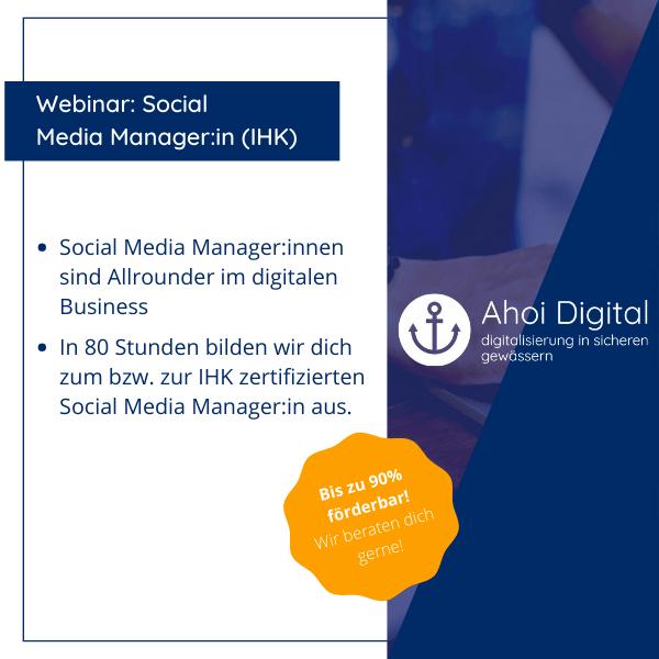 Werde Social Media Manager (IHK)! 1 - Social Media Agentur aus Oldenburg Social Media Agentur aus Oldenburg